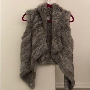 Rabbit fur Yves Salomon vest